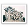 パリ トラカルデ広場のモニュメント