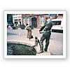 池の廻りの人々-3(モニュメント)アーヘン、ドイツ